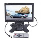 Dragonpad 7 TFT LCD Color 2 Video Input Car RearView Headrest Monitor DVD VCR Monitor With Remo