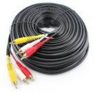 60ft 3-RCA Composite Male to Male Audio/Video Cable - Gold Plated Connectors