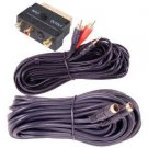 MHP® 20m PC to TV Video Kit 3 Piece SCART Adapter S-Video Cable / 3.5mm Jack to 2 x RCA Pho