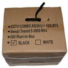 500' CCTV Cable RG-59U 18/2 Siamese Power/Video Cable Black