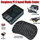 Raspberry Pi 2 Based - Extreme Xbmc Kodi Media Center - Black Case - Wireless Keyboard/Mouse Co