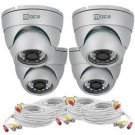 Mace Security MVK-SQ4CAM-IRVD MaceView SQ IR Vandal Dome 4-Pack Kit with 4 IRVD Cameras and 100