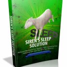The Siren's Sleep Solution - Natural Methods For Dealing With Insomnia - Ebook