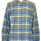 Lucky Brand Mens Shirt GUNNAR Plaid Woven Button Down Green Blue Sz S $79.50