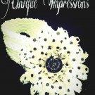 Polka dot flower headband