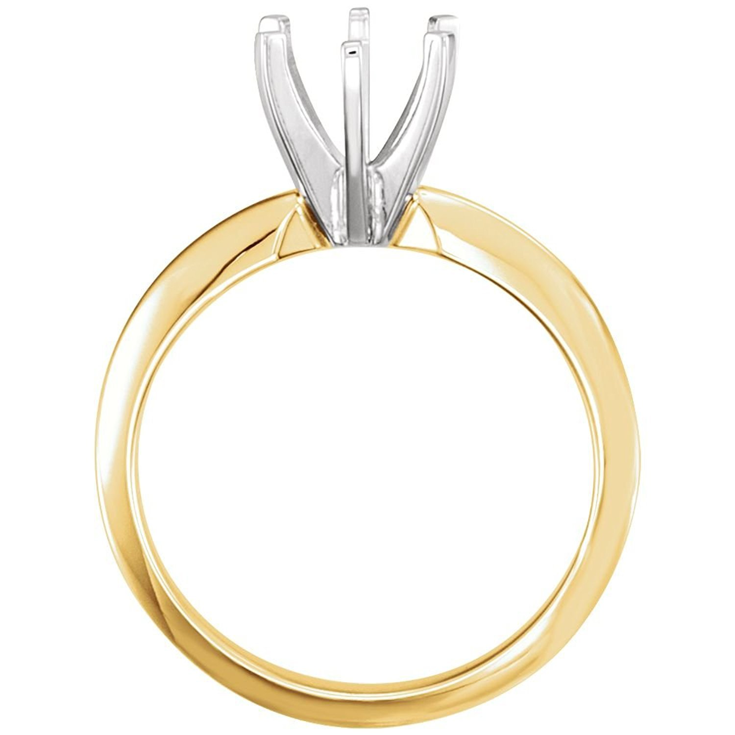 .50ct Solitaire Engagement Ring Mounting 6 Prong 14k Yellow Gold