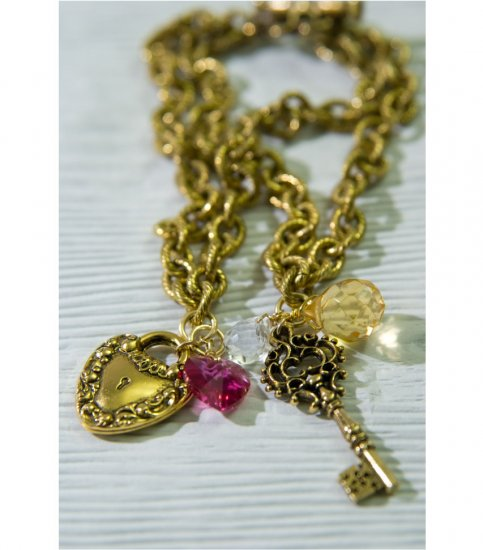 Lock and Key Charm Bracelet