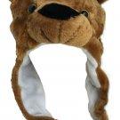 Plush Short Brown Bear Faux Fur Animal Critter Hat Cap
