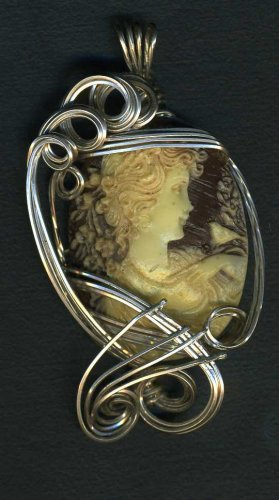 Cameo Sclupted in Sterling Silver