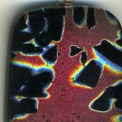 Fused Dichroic Art Glass Pendant