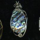 Oval Paua Shell Pendant