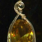 50ct Lab Citrine Pendant
