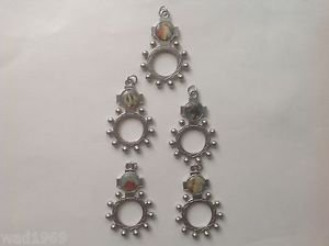 Lot of Five(5) One Decade Rosary Ring with Divine Mercy & four others Holy Image