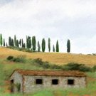 Tuscany Watercolor Greeting Card