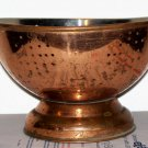 Copper Colander Brass Handles unmarked and used