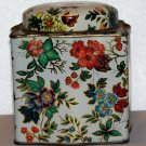 Vintage tin Designed by Daher Floral design Made in England empty