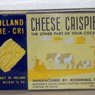 Cheese Crispies Holland Che-Cri Roodenrijs Delft Product of Holland used empty