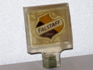 Falstaff beer tap handle lexan type of material maybe clear acrylic used
