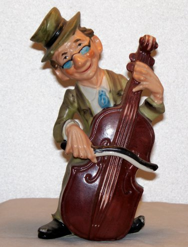 Made in Japan figurine marked Walls Bass player funny looking used