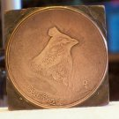 Quail? copper printing block unknown maker and used # BA 52