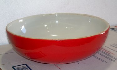 Halls Superior Quality bright red mixing bowl used