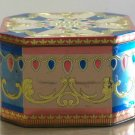 Made in England container small 8 sided blue pink gold color design