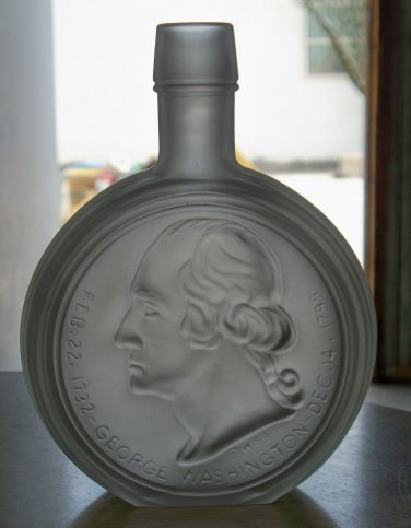 Wheaton Glass bottle Frosted George Washington used and empty no box