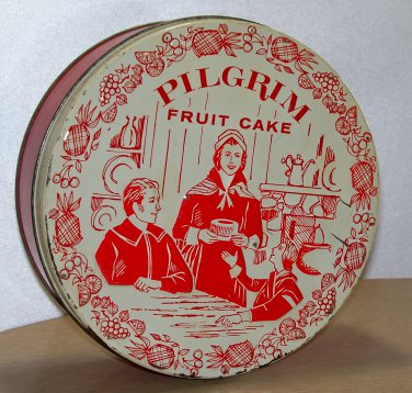 Pilgrim Fruit Cake Fruit Cake Bakers of America Inc. Litho'd in U.S.A. empty