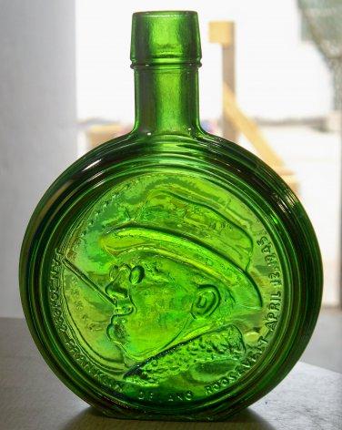 FDR Franklin Delano Roosevelt green Wheaton, N.J. bottle first edition