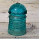 Brookfield New York blueish greenish colored insulator nice swirls used