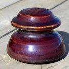 Flat Top ceramic brown insulator used unknown manufacture