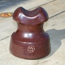 Westinghouse possible? W in a circle brown ceramic insulator