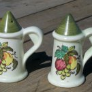 Poppytrail by Metlox Provincial Fruit Salt and Pepper Shaker set used nice