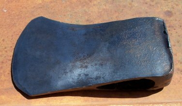 Axe Head used unknown manufacture, yard art, diesel punk 3.8 pounds
