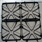 Square Enamel Type of Gas Stove Grates set of 4 used steampunk diesel punk
