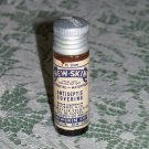 New Skin Antiseptic Covering small brown bottle with label used metal cap