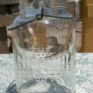 The Gayner Glass Top Gayner Glass Works Salem, N.J. clear wire bail quart jar