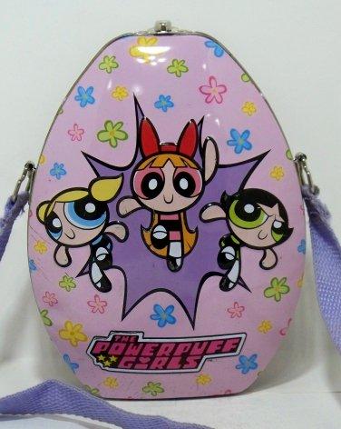 The PowerPuff Girls Cartoon Network metal tin container cloth strap (T107)