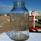 Horlick's Malted Milk clear jar no lid Racine - Wis. - U.S.A. Slough, Bucks, Eng