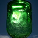 Green bright green wine? bottle bubbles tiny bubbles unknown maker empty