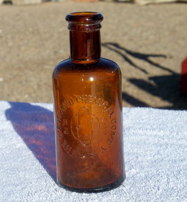 The Oakland Chemical Company brown bottle H2O2 neat looking bottle empty