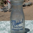 Model Farm Dairy Albuquerque, N. Mex. half pint milk, cream, bottle
