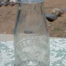 Geo. L. Schupp Star Dairy 442 Sherman St. half pint milk cream bottle