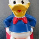 Vintage 70s Donald Duck Walt Disney Productions Plastic Toy Coin Bank