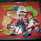Vintage 70s Raggedy Ann And Andy Metal Lunchbox Aladdin 1973