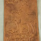 Vintage 1950s Cowboy on Horse Old West Embossed Copper Postcard Kopper Card Co.