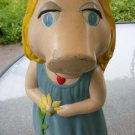 "Vintage Miss Piggy The Muppets Painted Ceramic 14"" Piggy  Bank 70s 80s"