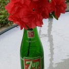 Fresh Up With 7-Up Vintage 60s 7-Up Glass Soda Bottle 7 oz.