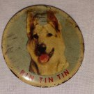 1955 RIN TIN TIN 1950s TV Series Pinback Button Badge