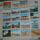Vintage 1940s Daytona Beach Florida Souvenir Tourist Attractions Fact Cards Lot Set of 19